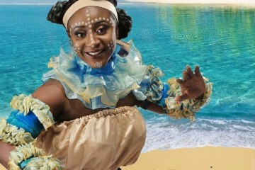 "Actress Ini Edo on The Cover of ""Akwa Ibom"" Tourist Guide"