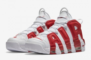 Nike Air More Uptempo Sneakers in Varsity Red